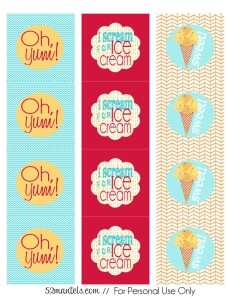 cupcake toppers ice cream party[1]